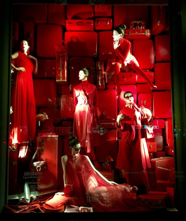 Gio Graphy Red Window Display
