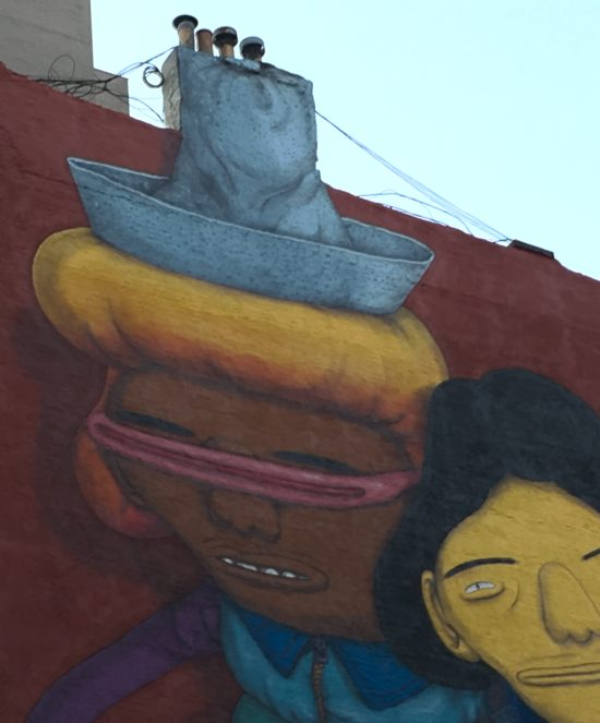 Os Gemeos Hat Chimney Detail