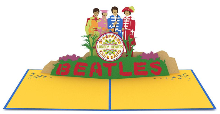The beatles pop up greeting cards the worley gig image source m4hsunfo