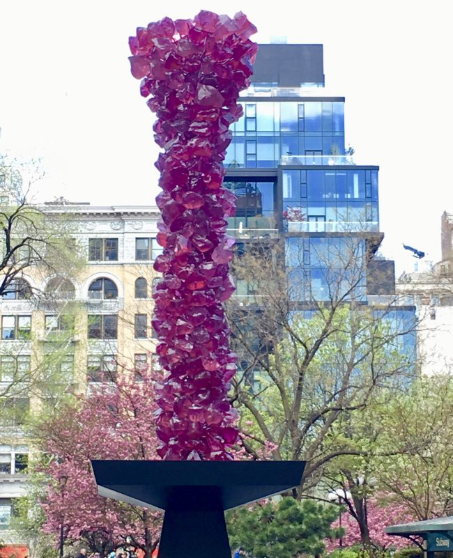 Rose Crystal Tower in Spring