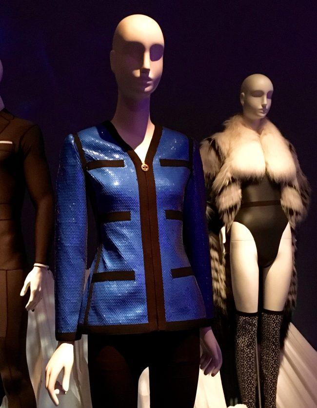 Blue and Black Sequined Grosgrain Jacket