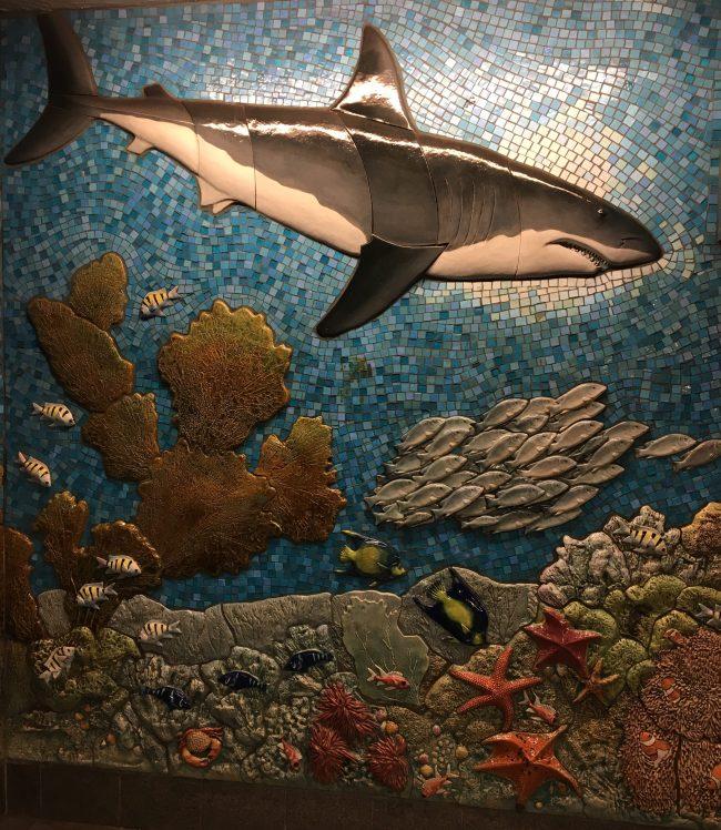 Undersea Mural Shark Detail