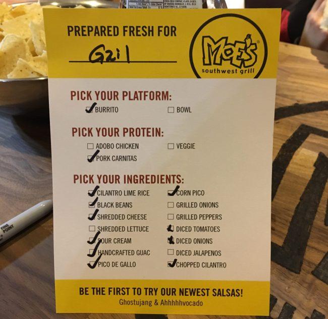 Burrito Order