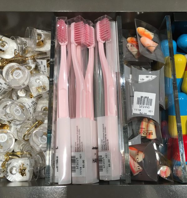Pink Toothbrushes with Display