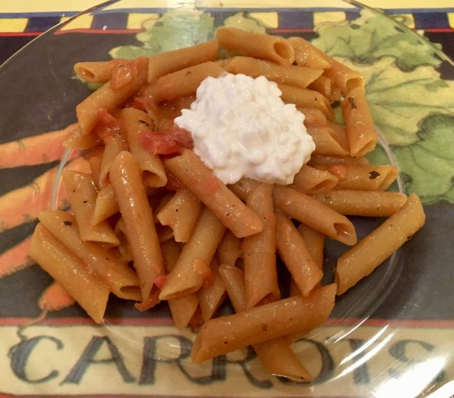 Red Penne Pasta Serving Suggestion