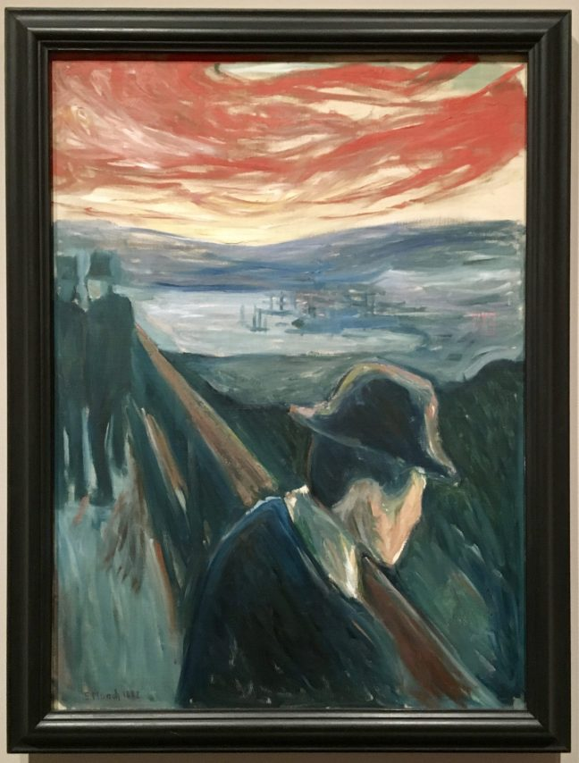 Edvard Munch Sick Mood at Sunset
