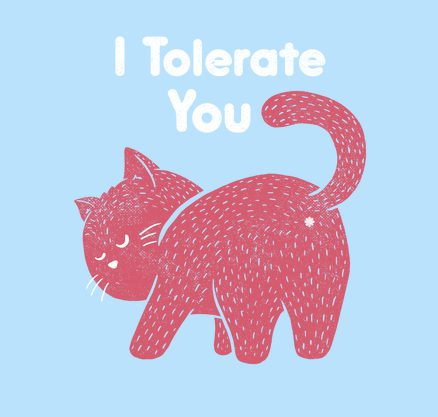 I Tolerate You Cat T Shirt