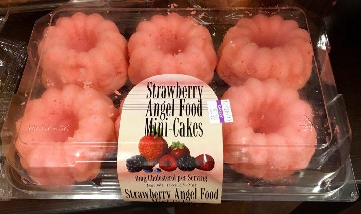 Strawberry Angel Food Mini Cakes