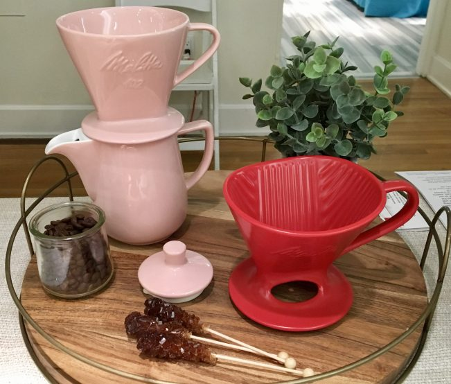 Pink Melitta Pour Over Coffee Maker