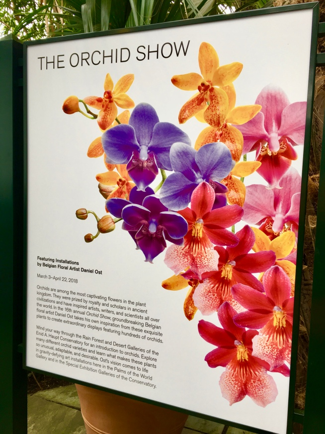 Orchid Show Signage