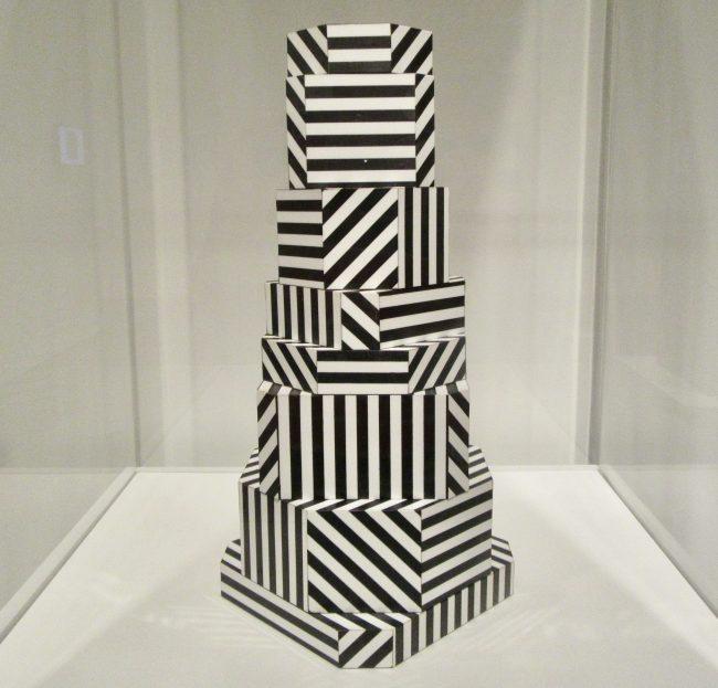 Ziggurat Black Stripes Storage Boxes