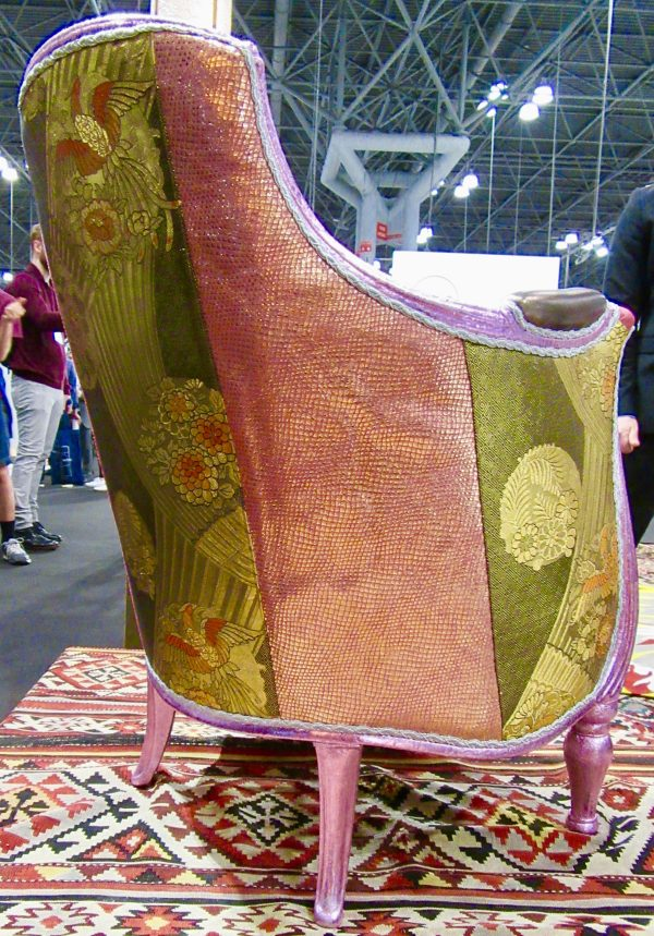 Art Deco Arm Chair Finish Detail Left Side and Back