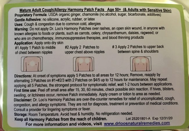 Dr. Loos Harmony Patches Instructions