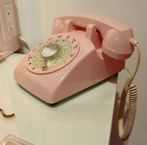 Pink Rotary Dial Telephone