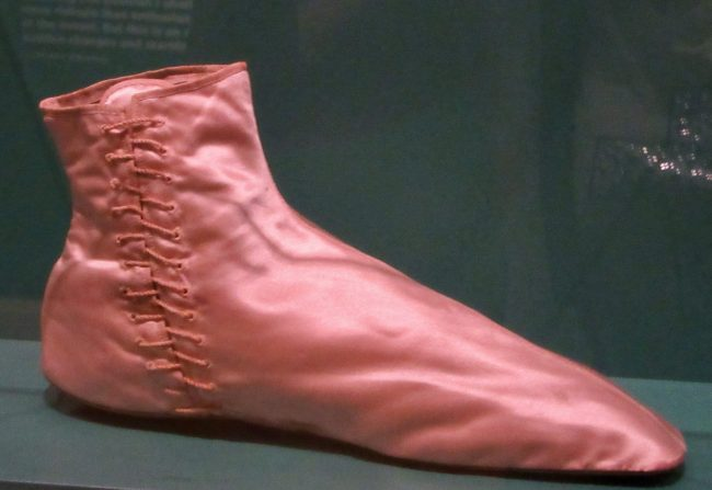Pink Satin Victorian Ladies Slipper