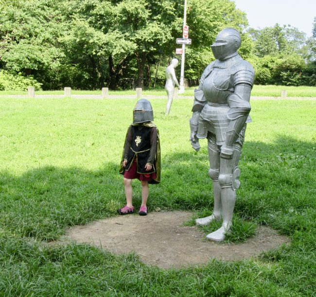 Knight and Cosplay Child