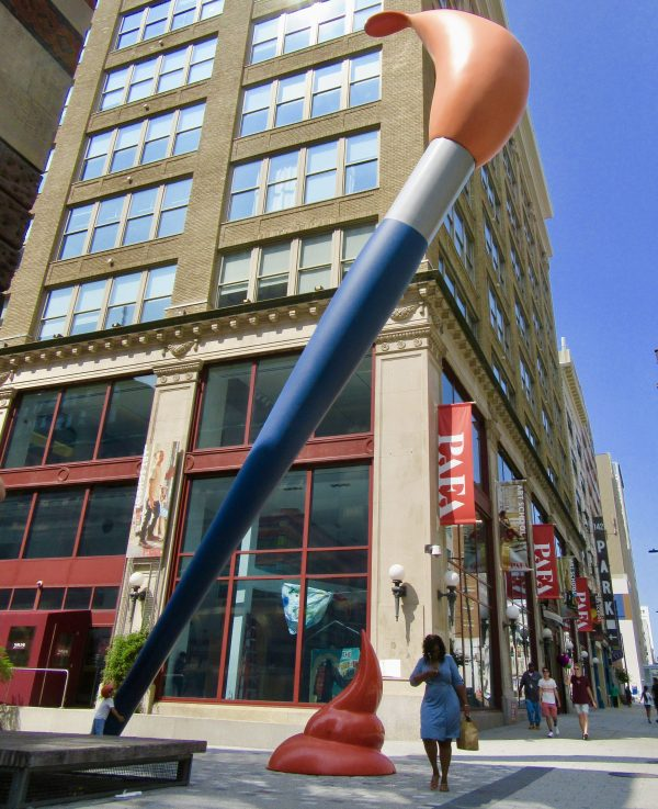 Claes Oldenburg Paint Torch Sculpture