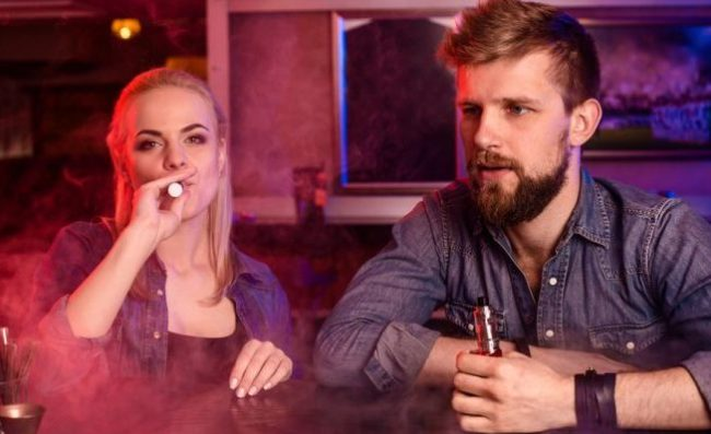 Couple Vaping