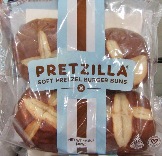 Pretzilla Soft Pretzel Burger Buns