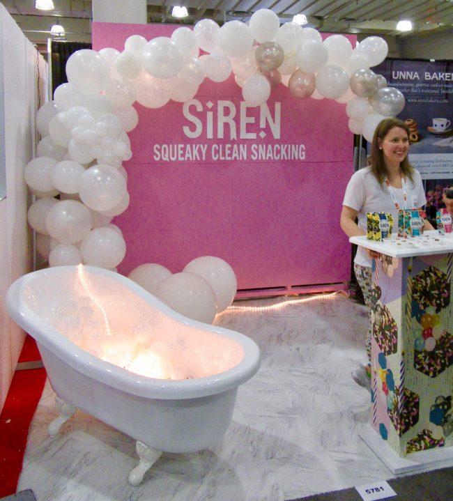 Siren Snack Protein Bites Booth