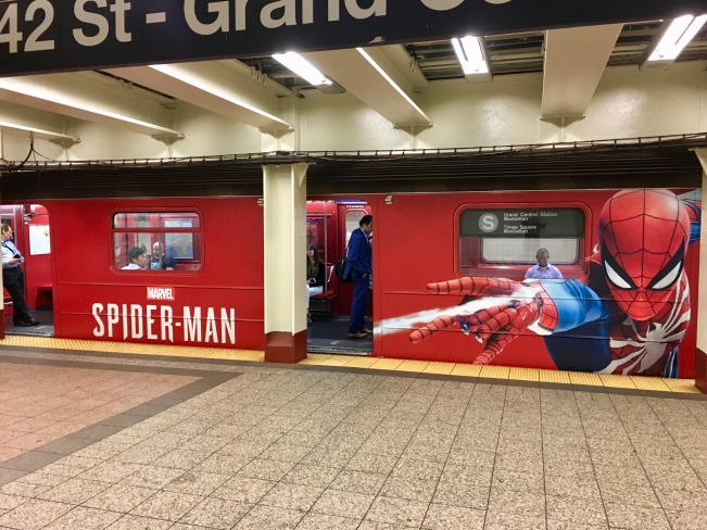 Spiderman Subway Car