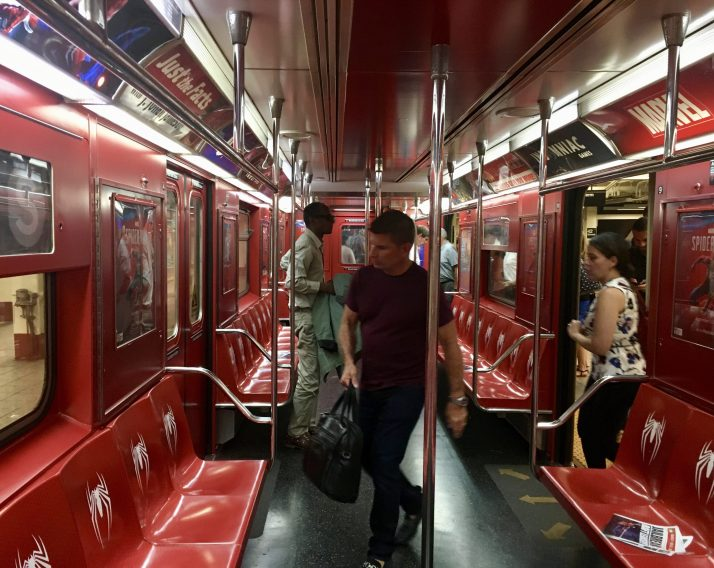 Spider Man Subway Car Interior