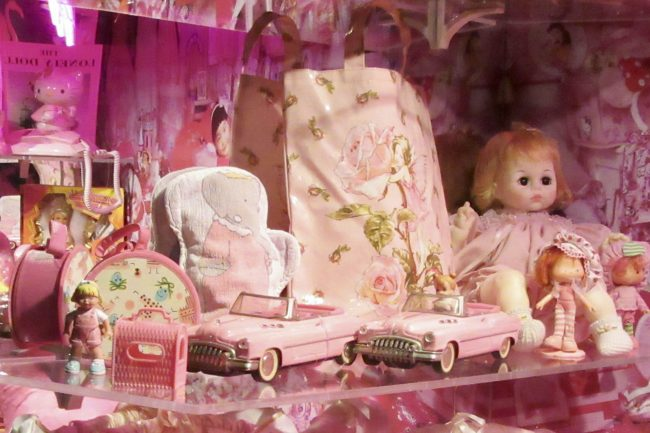 Pink Cars and Doll