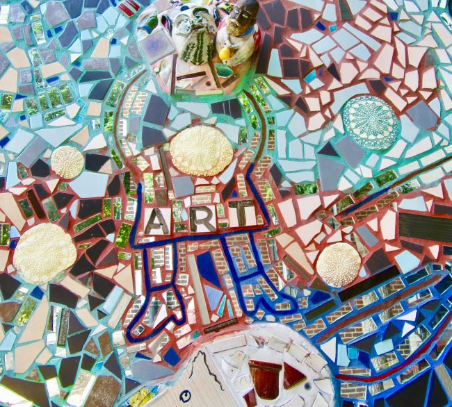 Ceramic Tile Mosaic Mural Detail
