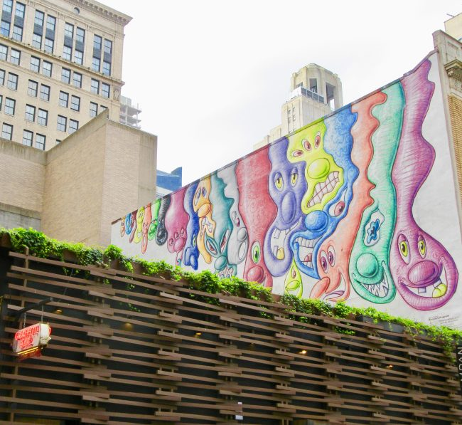Kenny Scharf Mural Above Graffiti Bar