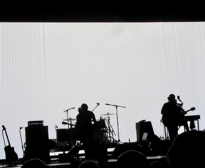 Band On Stage In Shadow