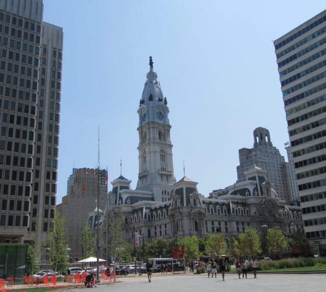 View from Love Park to City Hall