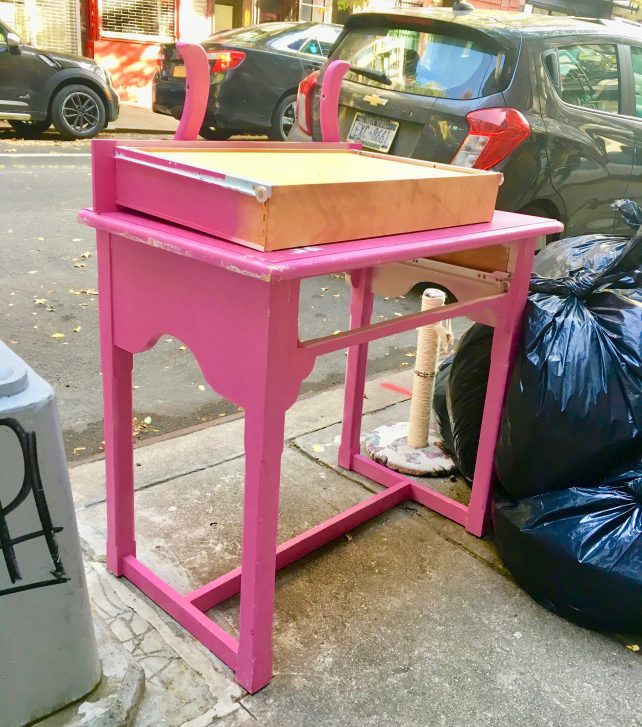 Discarded Pink Desk