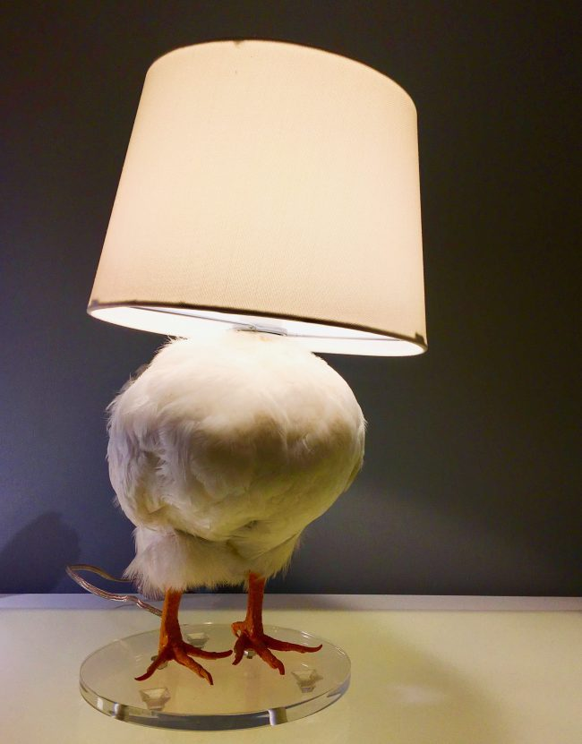 Chicken Lamp with Shade