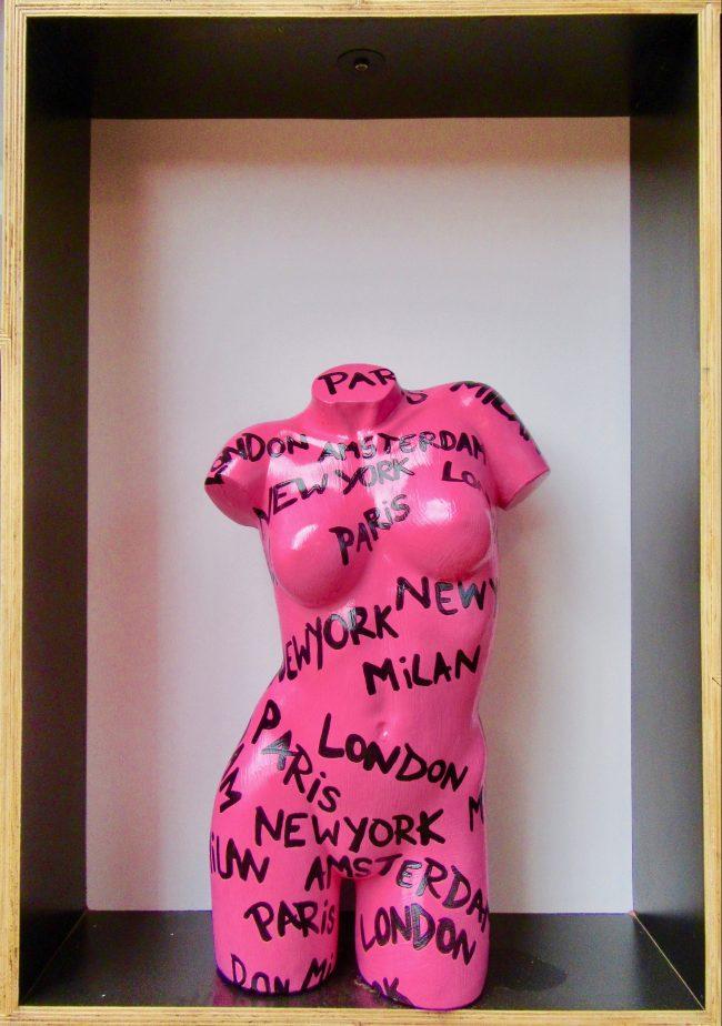 Pink Graffiti Torso