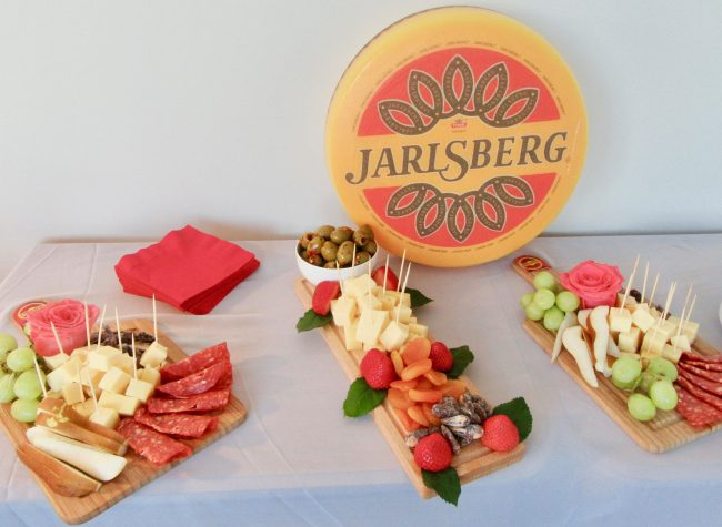 Spread of Jarlsberg Cheese