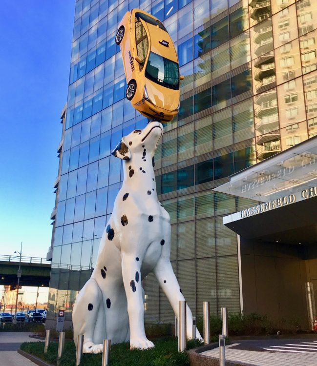 Dalmatian with Cab Statue
