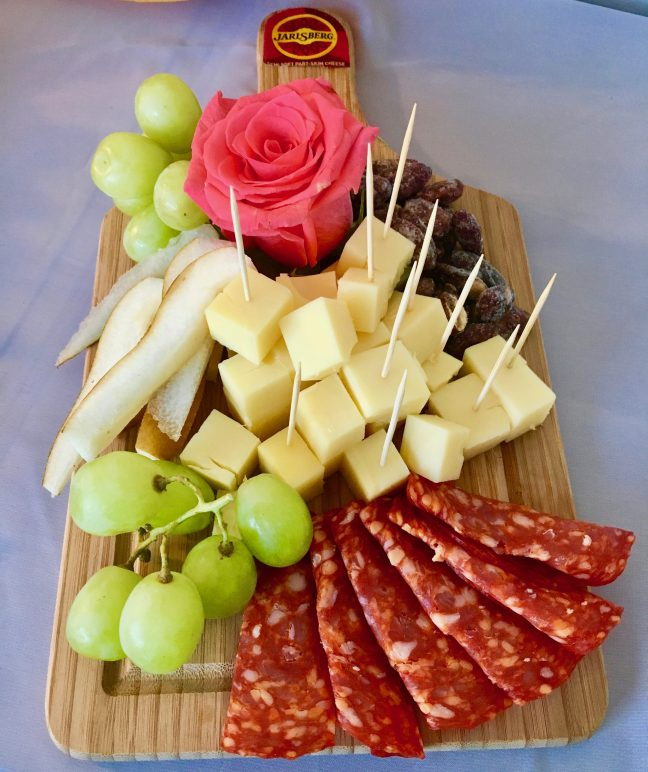 Plate of Cheese and Meat