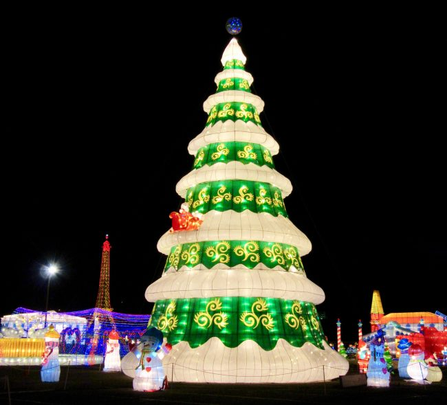 Christmas Tree Chinese Lantern