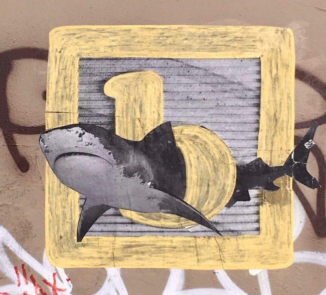 Shark Attack Street Art By Appleton