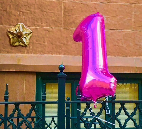 Pink #1 Balloon