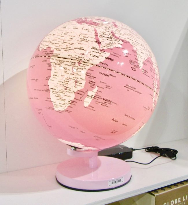 Pink Globe Lamp
