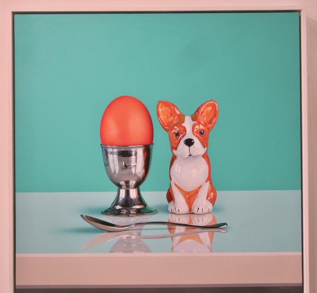 Egg Cup With French Bull Dog Salt Shaker