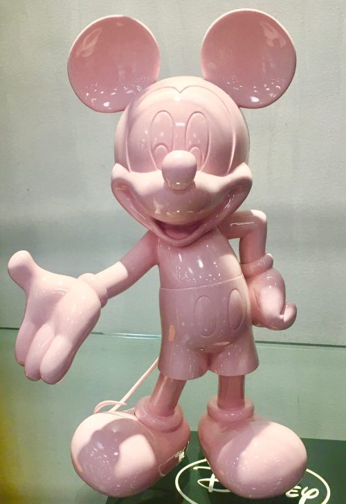 Pink Mickey Mouse Statue