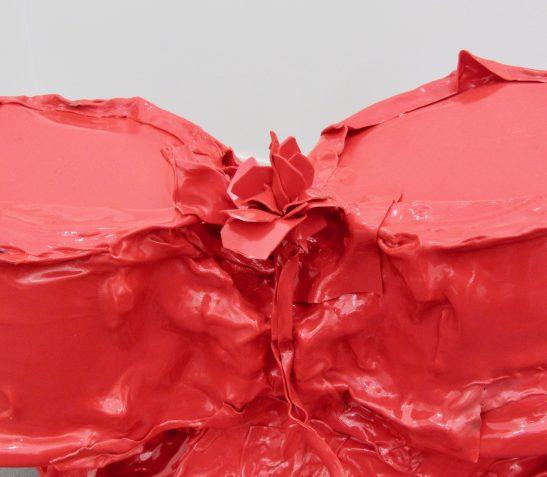 Sergio Romagnolo Red Plastic Drumkit Detail