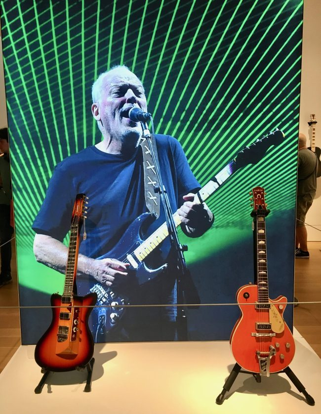 Two Guitars with Gilmour Backdrop