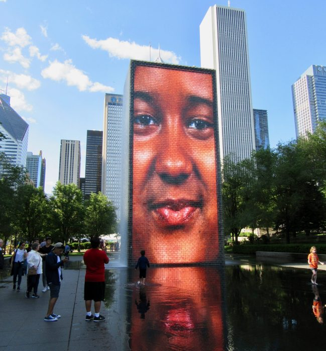 Crown Fountain Smiling 2