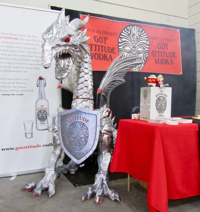 Attitude Vodka Dragon Booth