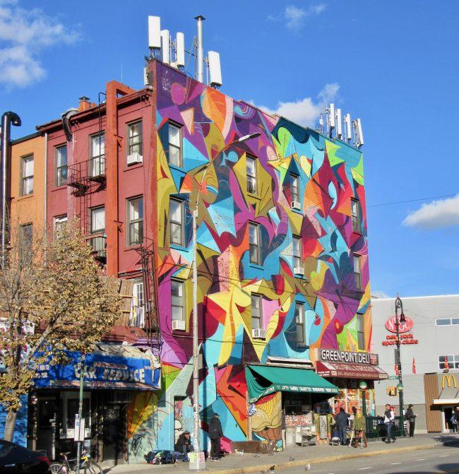Ola Kalnins Building Mural