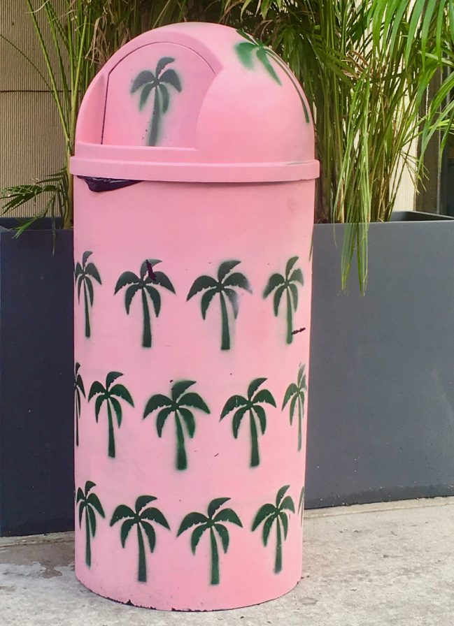 Pink Garbage Can