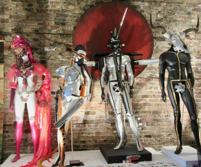 Four Warrior Mannequins